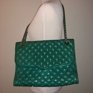 Rebecca minkoff emerald quilted affair crossbody